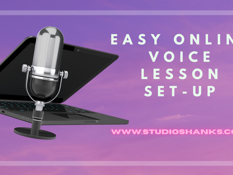 Easy Online Voice Lesson Set-up