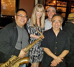 Patricia Shanks with jazz ensemble