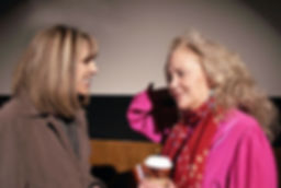 Patricia Shanks with actress and teacher Sally Kirkland
