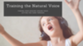 Training the Natural Voice Group Banner