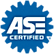 blue ASE certified logo