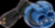 blue headlight bulb connector