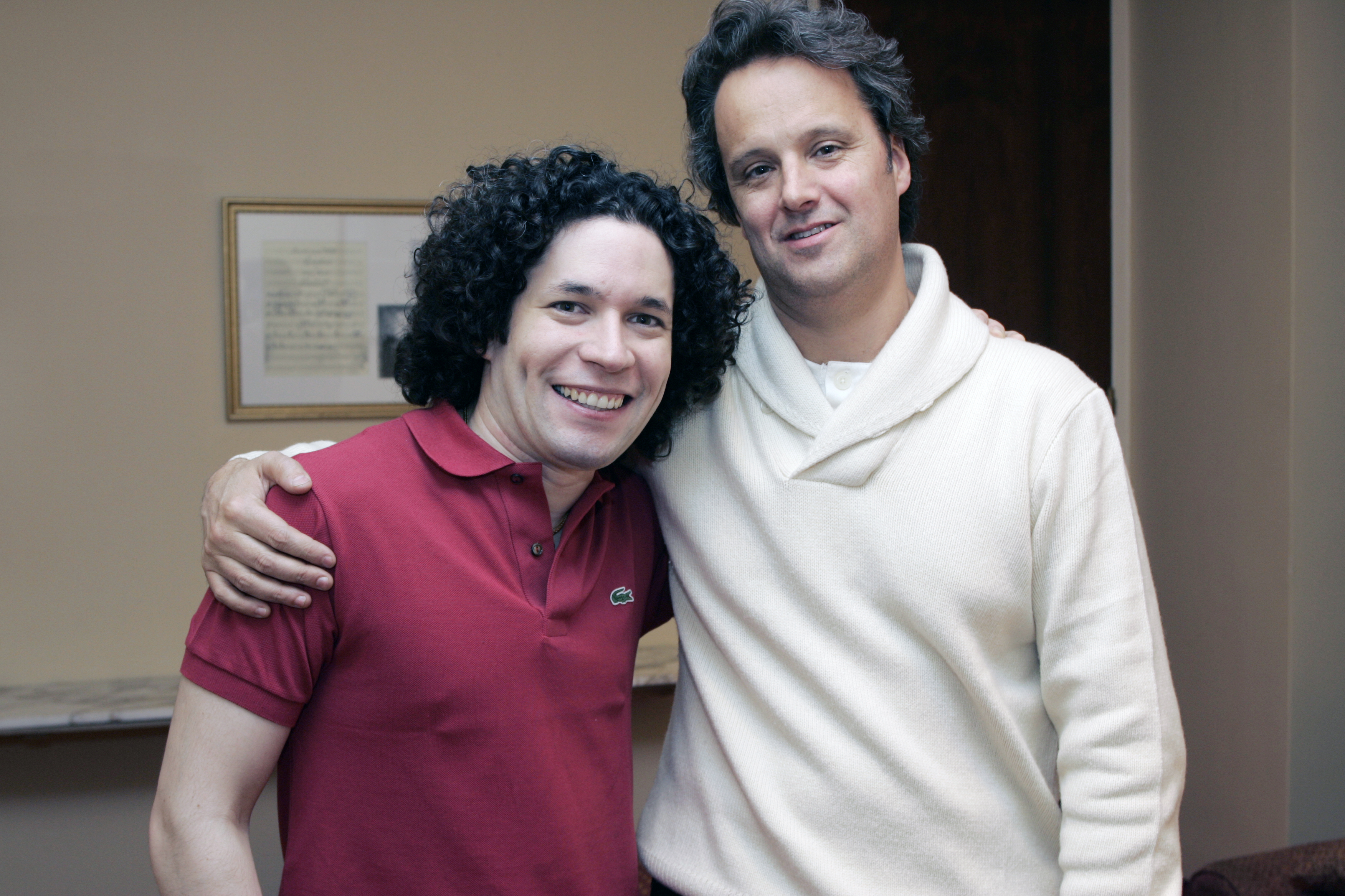 With Gustavo Dudamel