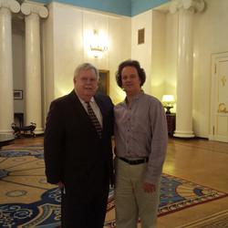 With Ambassador John Tefft
