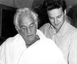 With Leonard Bernstein (1988)