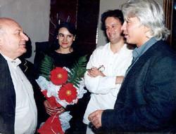 With Zhvanetsky and Hvorostovsky