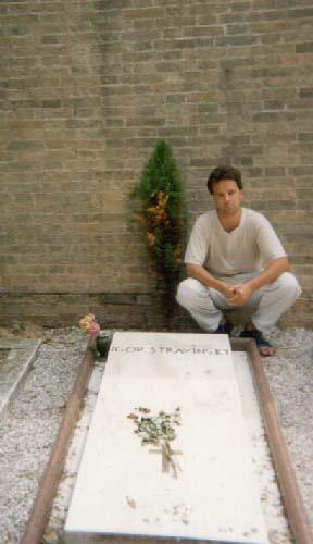 At Stravinsky's grave