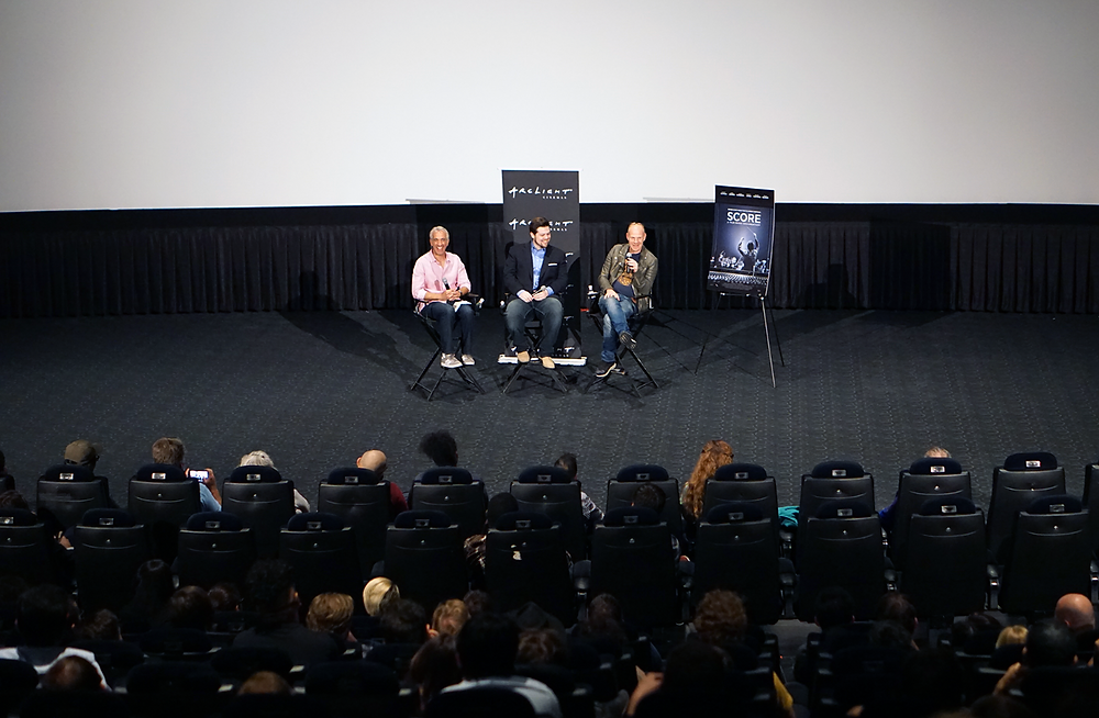 Scott Mantz, Matt Schrader and Tom Holkenborg answer questions from the audience on August 24, 2017 at ArcLight Hollywood.