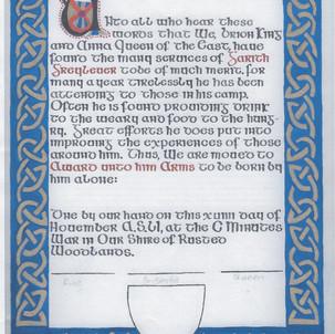 Award of Arms 8