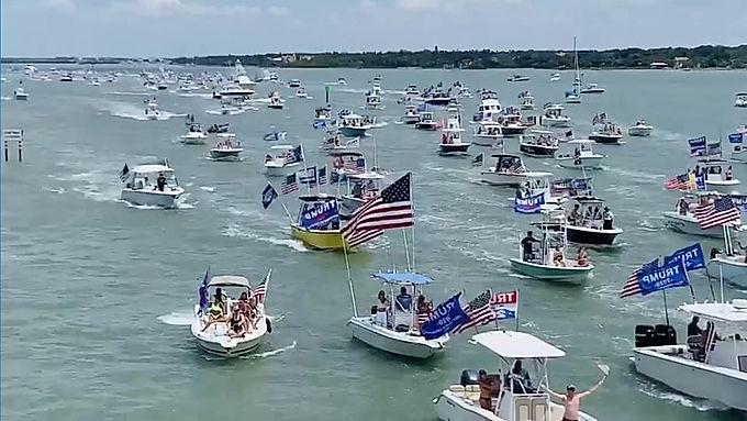 Trump Boat Parade ~ Pierre, SD