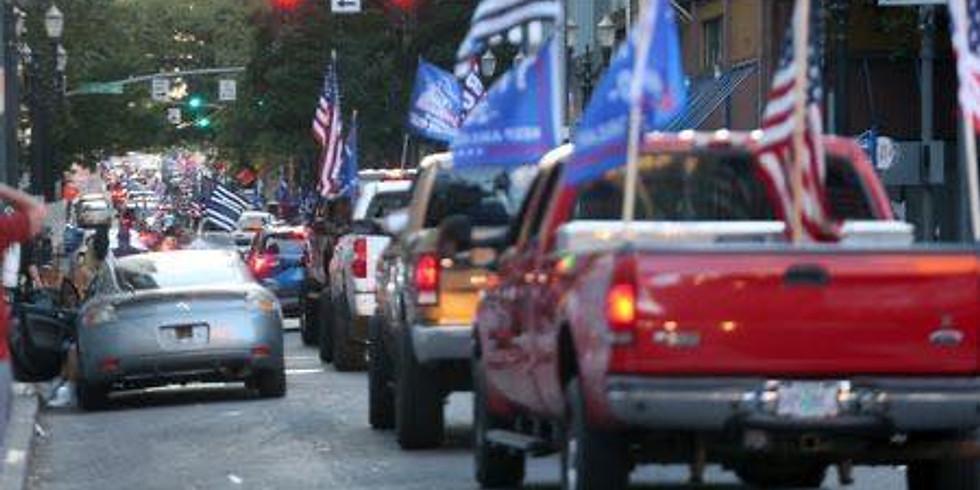 Patriotic/Trump Truck Rally