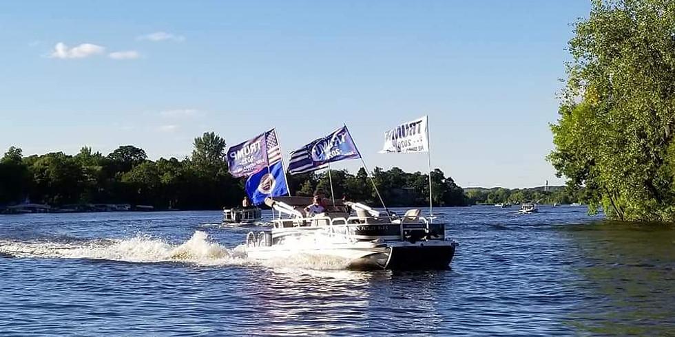 Trump Boat Parade - Rainy Lake