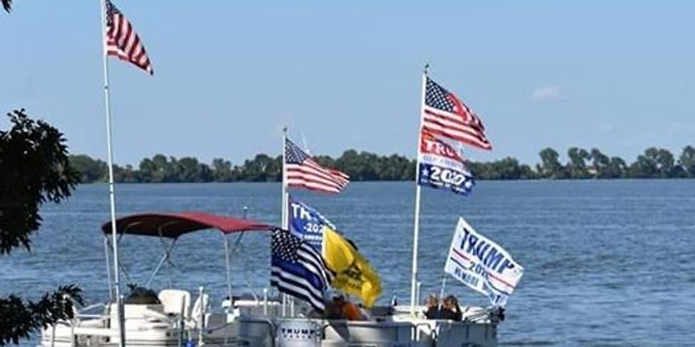 Trump Boat Parade - Lake Bemidji