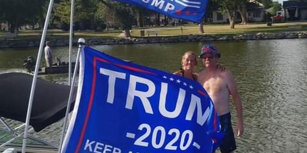 Trump Boat Parade - Lake View, IA