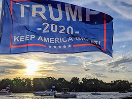 Trump Boat Parade - Rally at Tom Sawyers cruise to the Blue Bridge and Riverside Park