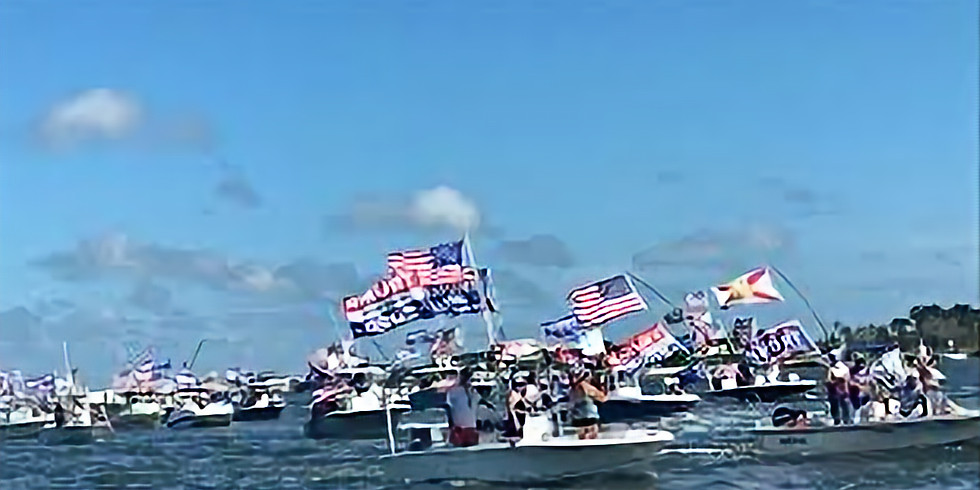 Trump Boat Parade - Upper Prior Lake