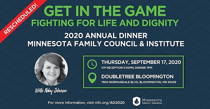 Get in the Game! Annual Dinner with Abby Johnson