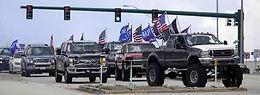 Trump Bemidji Rally Convoy