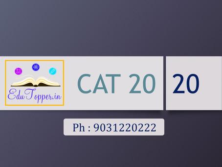 CAT 2020 date announced...