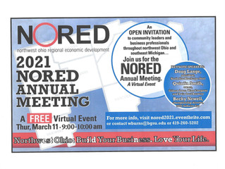 NORED Annual Meeting --  March 11, 2021 9am-10am