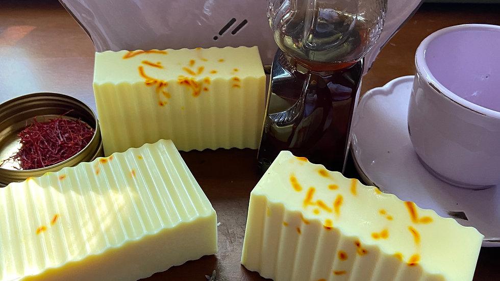 Lavender Saffron Honey Goat Milk Soap