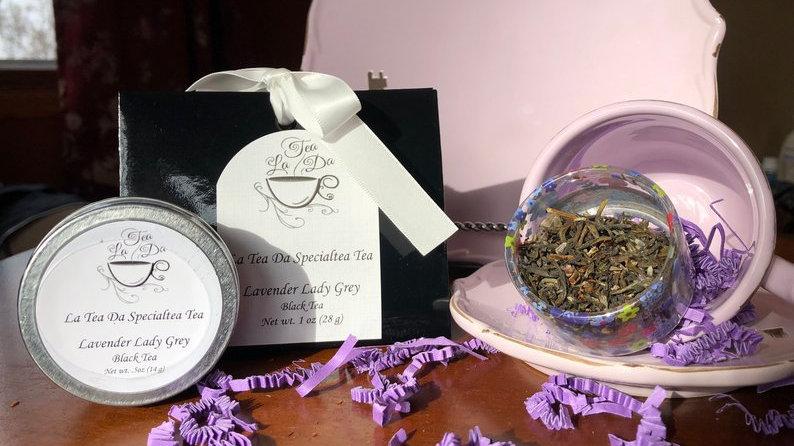 Organic Lavender teas tins-.5 ounce loose teas