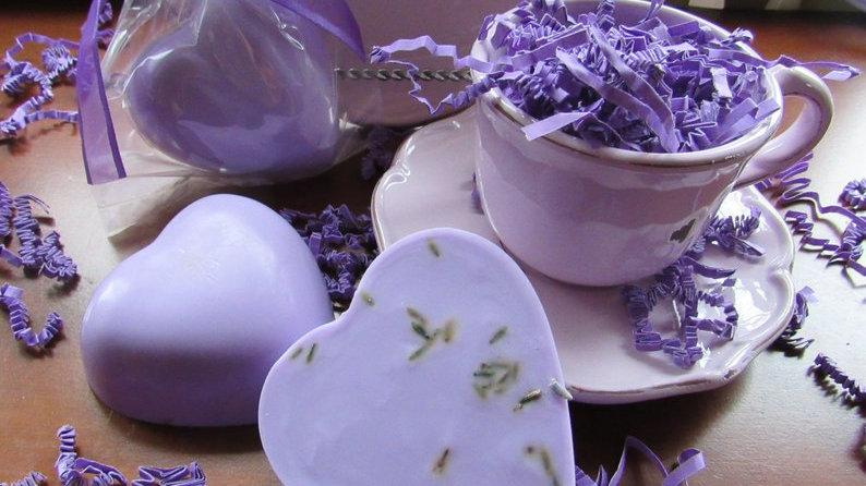 Lavender Goat's Milk Heart Soap-3 ounces