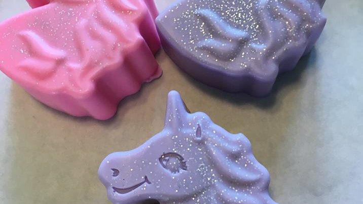 Aubrey's Glittery Unicorn Soap