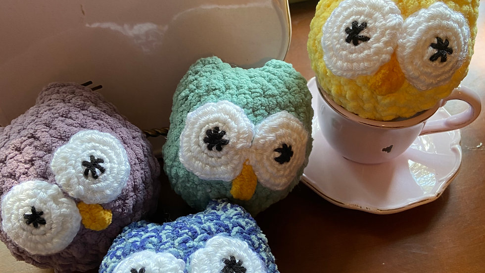 Baby Owls/Crocheted Lavender Filled