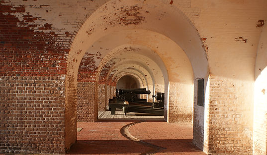 Fort Pulaski sure does have a lot of cannons to check out, all sizes