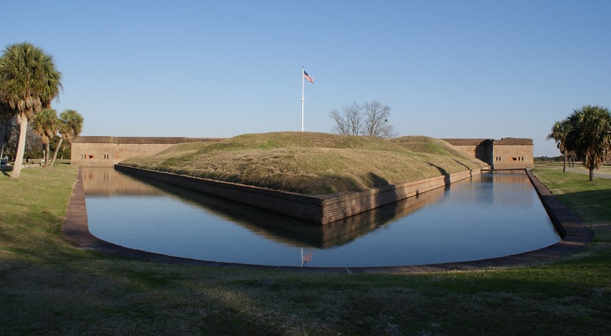The Exterior Moat of Fort Pulaski