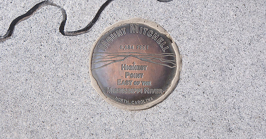 Mount Mitchell, Marker for Highest Point in North Carolina