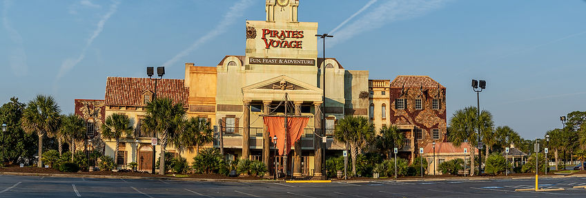 Pirates Voyage, a dinner theater with pirates taking over a ship while you scarf down some grub in Myrtle Beach, South Carolina. Cheer for your favorite crew.