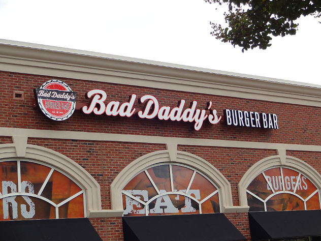 Signage of Bad Daddy Burger Charlotte North Carolina