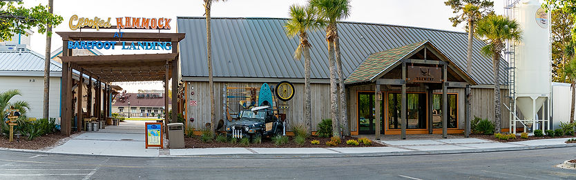 The Entrance to Crooked Hammock Brewery at Barefoot Landing in Myrtle Beach Area of South Carolina