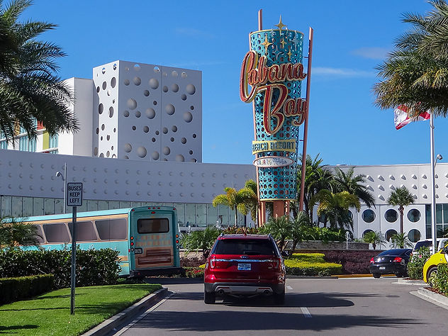 The Entrance to Cabana Bay Resort in Orlando, FL