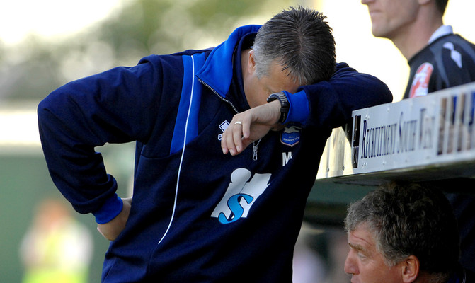 Brighton manager Micky Adams not happy with his teams peformance