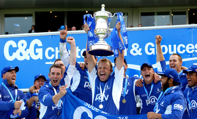 Sussex celebrate winning the C&G 2006 Trophy title at Lord's