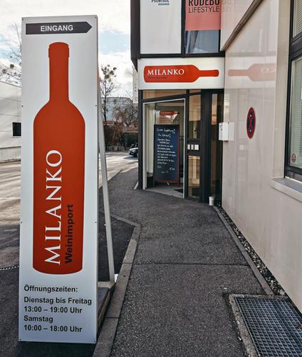 Eingang Weinimport Milanko