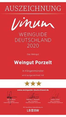 Vinum Weinguide 2020_Auszeichnung Weingut Porzelt