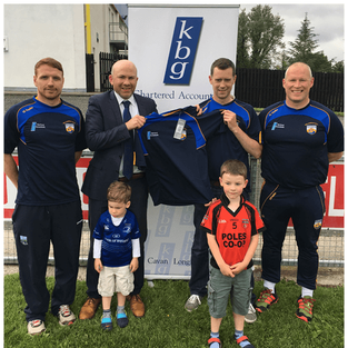 Mark Reilly  Presents gear bags to Mullahoran GFC