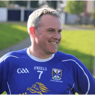 Peter Reilly enjoying the game, played for Cavan Legends team in Joe McCarthy Legends Charity game