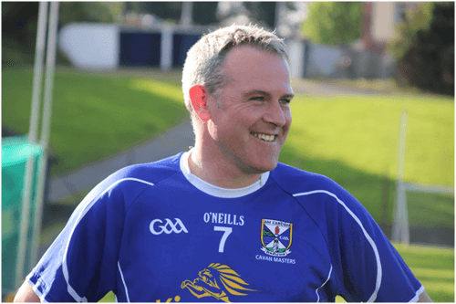 Peter Reilly enjoying the game, played for Cavan Legends team in Joe McCarthy Legends Charity game
