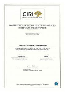 CIRI Accreditation 2020 - Leitrim's only registered CIRI Contractor