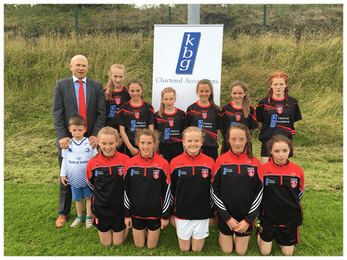Mark Reilly  With the Killygarry girls