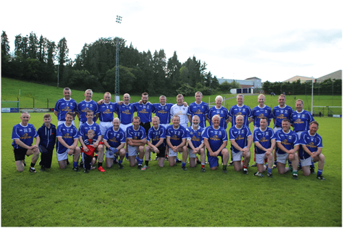 Cavan Legends team who participated in the Joe McCarthy Legends Charity game in Kingscourt on Saturday 8th June 2019 in aid of Cavan Monaghan Palliative Care and Kingscourt local cancer fund, picture includes back row left to right, Gavin Hartin, Larry Reilly, Peter Reilly, front row left to right Pat Reilly, Peter Cassidy, Ciaran Brady KBG, Pat Cassidy and Damien Duignan.