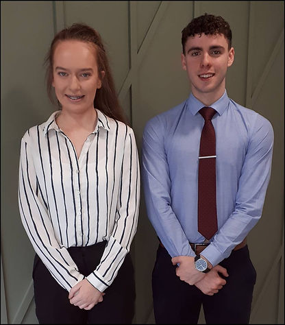 KBG Apprentices Maureen Reilly and Jack Trainor
