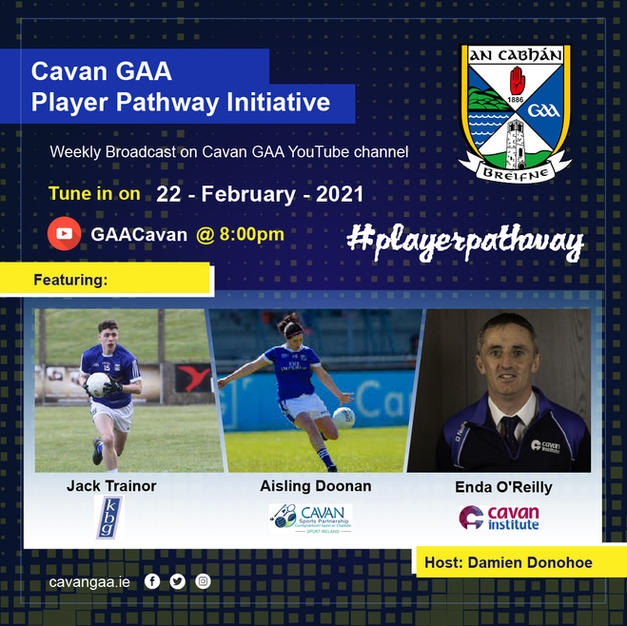 Jack Trainor showcased on Cavan County Board social media for another installment of their #playerpathway