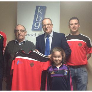 Paddy Keavney Presents training tops to Cornafean GFC