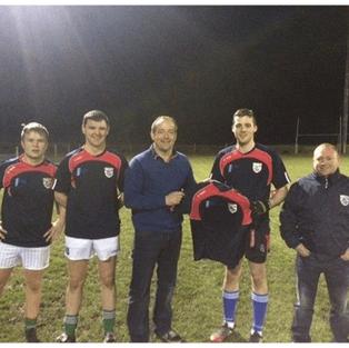 Ciaran Brady Presents training tops to Gowna GFC